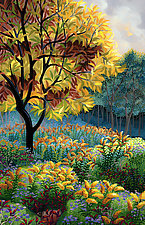 Yellow Tree by Wynn Yarrow (Giclee Print)