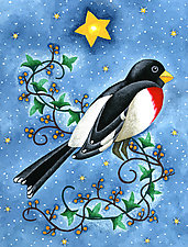Winter Grosbeak by Wynn Yarrow (Giclee Print)