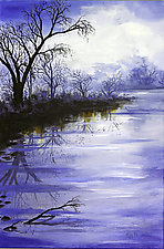 Faded Haze at Greenwood Lake by Ritch Gaiti (Oil Painting)