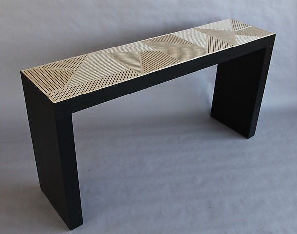 Cross Hatch Console Table By Kevin Irvin (Wood Console Table)   Artful Home