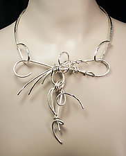 Moonlight Vines II by Valerie Ostenak (Silver Necklace)