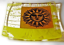 You Are My Sunshine III by Alice Benvie Gebhart (Art Glass Plate)