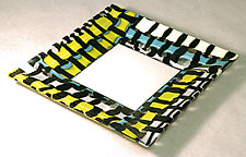 Faux Woven Glass Plate by Alice Benvie Gebhart (Art Glass Plate)