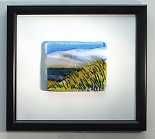 Stormy Skies by Alice Benvie Gebhart (Art Glass Wall Sculpture)