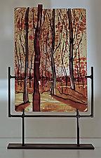Seasonal Pleasures by Alice Benvie Gebhart (Art Glass Sculpture)