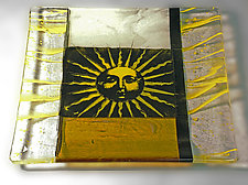 You Are My Sunshine I by Alice Benvie Gebhart (Art Glass Plate)