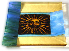 You Are My Sunshine II by Alice Benvie Gebhart (Art Glass Plate)