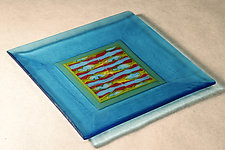 Patterned Tray by Alice Benvie Gebhart (Art Glass Tray)