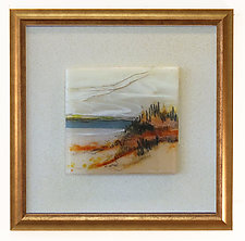 Amber Beach by Alice Benvie Gebhart (Art Glass Wall Sculpture)