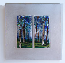 Summit of Trees by Alice Benvie Gebhart (Art Glass Wall Sculpture)