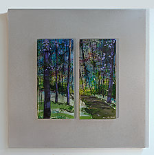 Abiding in the Trees by Alice Benvie Gebhart (Art Glass Wall Sculpture)