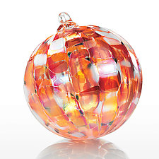 Yuletide Fire by Paul Lockwood (Art Glass Ornament)