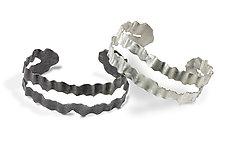 Flutter Series Division Cuff by Debra Adelson (Silver Bracelet)