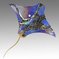 Eagle Ray by Karen Ehart (Art Glass Wall Sculpture)