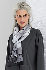 Circle and Square Scarf by Laura Hunter (Shibori Scarf)