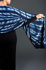 Indigo Dot Shibori Shawl by Laura Hunter (Silk Shawl)