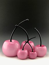 Pink is the New Red by Donald  Carlson (Art Glass Sculpture)