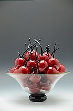 Life is Just a Bowl of Cherries by Donald  Carlson (Art Glass Sculpture)