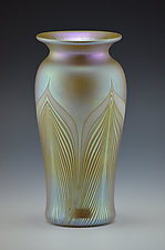 Private Collection Gold Luster Vase by Donald  Carlson (Art Glass Vases)