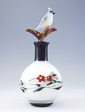 Titmouse Bottle by Chris Pantos (Art Glass Perfume Bottle)