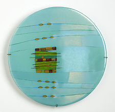 Aqua Window by Lynn Latimer (Art Glass Sculpture)