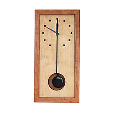 Squares and Circles Tall Box Clock by Desmond Suarez (Wood Clock)
