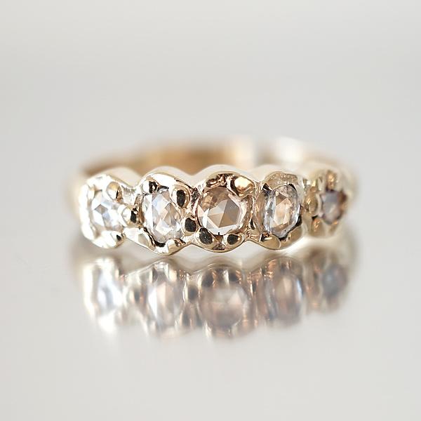 Rose-Cut Diamond One Line Band