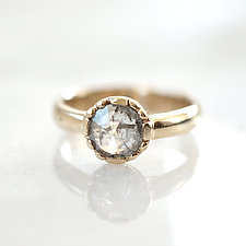 Rose-Cut Diamond Solitaire II by Ana Cavalheiro (Gold & Stone Ring)