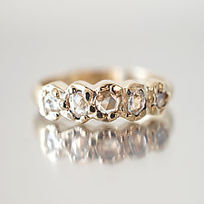 Rose-Cut Diamond One Line Band by Ana Cavalheiro (Jewelry Rings)