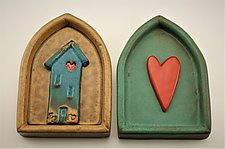 Home Is Where the Heart Is by Cathy Broski (Ceramic Wall Sculpture)