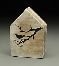 Song Bird by Cathy Broski (Ceramic Wall Sculpture)