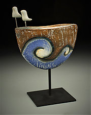 Travelers II by Cathy Broski (Ceramic Sculpture)