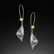 Gold Pod Earrings by Aleksandra Vali (Silver Earrings)