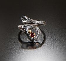 Night Story Ring by Aleksandra Vali (Gold, Silver & Stone Ring)