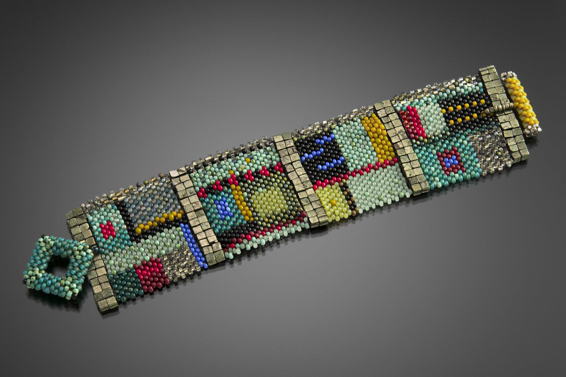 Colorfield Cuff by Julie Powell (Beaded Bracelet) | Artful