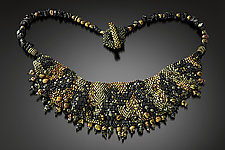 Sculptural Bib Necklace by Julie Powell (Beaded Necklace)