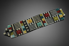 Sean Scully Cuff by Julie Powell (Beaded Bracelet)