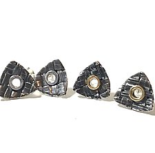 Trillion Studs Earrings by Linda Bernasconi (Gold & Silver Earrings)