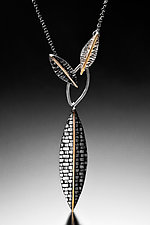 Woven Leaf Pendant by Linda Bernasconi (Gold & Silver Necklace)
