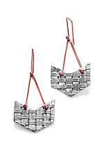 Chevron Weave Earrings by Linda Bernasconi (Silver Earrings)