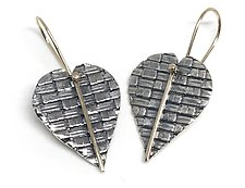 Woven Hearts by Linda Bernasconi (Silver Earrings)