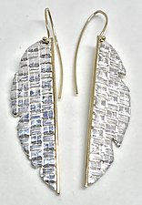 Split Banana Leaf Earrings by Linda Bernasconi (Gold & Silver Earrings)