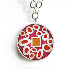 Jewel Pendant by Victoria Varga (Silver & Resin Necklace)