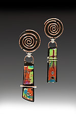 Brena by Sue Savage (Silver & Polymer Earrings)