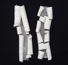 Found Furls Six by Lenore Lampi (Ceramic Wall Sculpture)