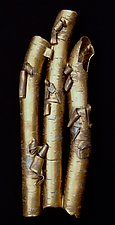 Birch in Bronze II by Lenore Lampi (Ceramic Wall Sculpture)
