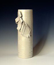 Glistening Birch 1 by Lenore Lampi (Ceramic Vase)