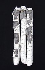 High Relief in Birch II by Lenore Lampi (Ceramic Wall Sculpture)