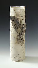 Vase with Furls II by Lenore Lampi (Ceramic Vase)