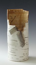 Birch Motif Vase 22 by Lenore Lampi (Ceramic Vase)